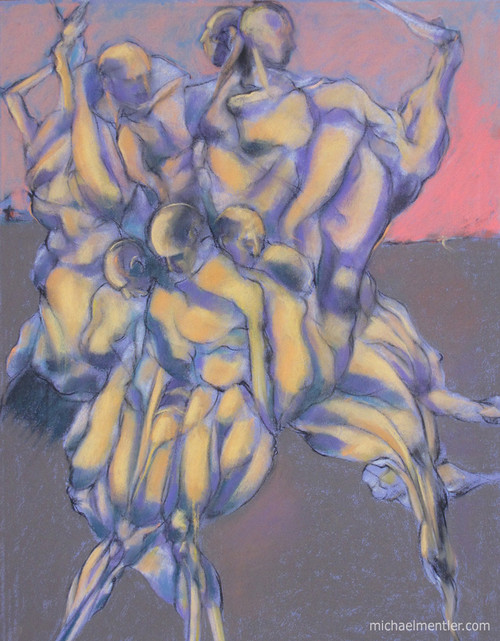 Muses CXXVII by Michael Mentler 25 in by 18 in, Pastel and Conté on Canson Mi-Teintes