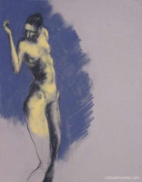 Figura CXXXI by Michael Mentler 25 in by 18 in, Pastel and Conté on Canson Mi-Teintes