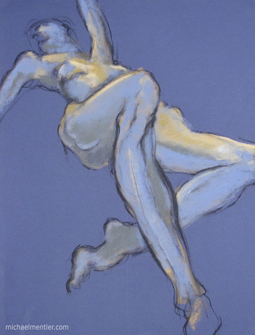 Figura CXXXV by Michael Mentler 25 in by 18 in, Pastel and Conté on Canson Mi-Teintes