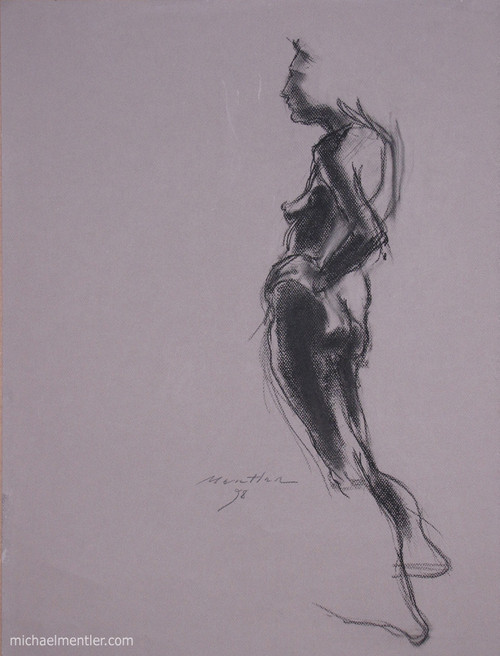 Figura CXXXVII by Michael Mentler 25 in by 18 in, Pastel and Conté on Canson Mi-Teintes