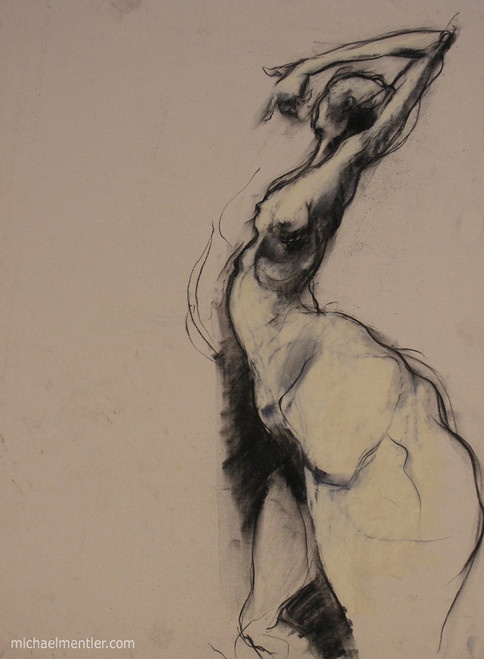 Figura CXLI by Michael Mentler 25 in by 18 in, Pastel and Conté on Canson Mi-Teintes