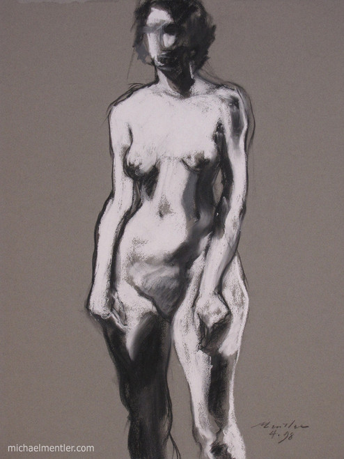 Figura CXLIII by Michael Mentler 25 in by 18 in, Pastel and Conté on Canson Mi-Teintes