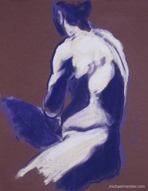Figura CXLV by Michael Mentler 25 in by 18 in, Pastel and Conté on Canson Mi-Teintes