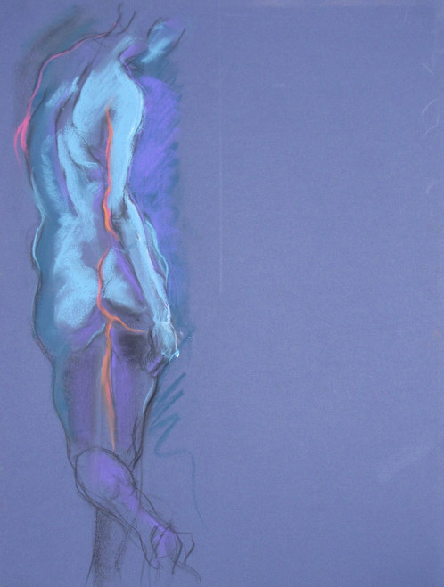 Figura CXLVII by Michael Mentler 25 in by 18 in, Pastel and Conté on Canson Mi-Teintes