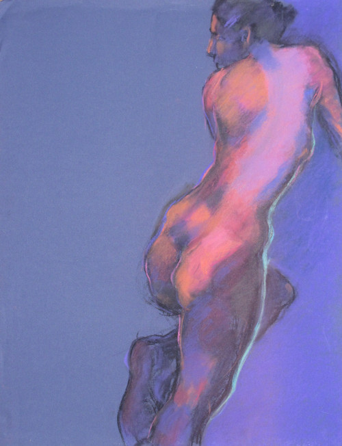 Figura CXLIX by Michael Mentler 25 in by 18 in, Pastel and Conté on Canson Mi-Teintes