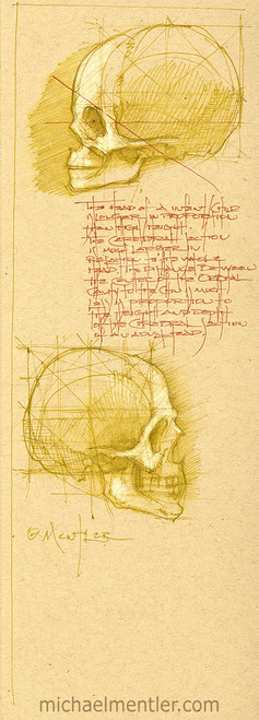 Sketchbook Journals LXXIX by Michael Mentler 13 in by 5 in, Archival Ink on French's Speckletone Paper