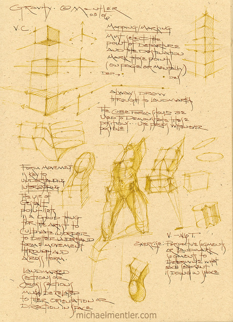Sketchbook Journals CLVII by Michael Mentler 12 in by 9 in, Archival Ink on French's Speckletone Paper