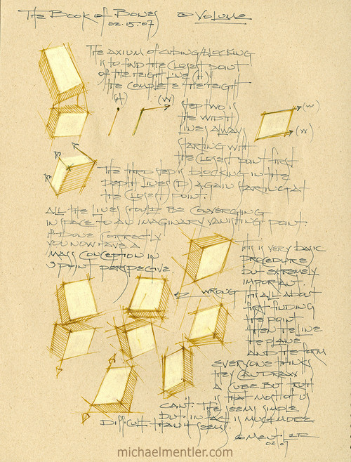 Sketchbook Journals CLXVII by Michael Mentler 12 in by 9 in, Archival Ink on French's Speckletone Paper