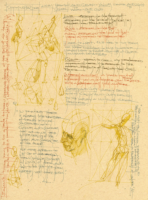 Sketchbook Journals CLXXI by Michael Mentler 12 in by 9 in, Archival Ink on French's Speckletone Paper