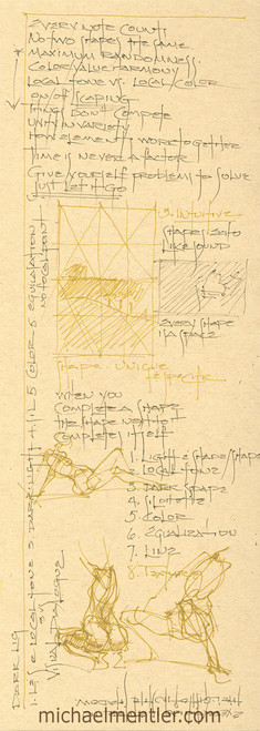 Sketchbook Journals CCXXXIX  by Michael Mentler 13 in by 5 in, Archival Ink on French's Speckletone Paper