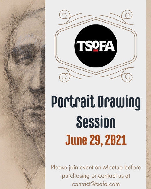 Pass to a single portrait drawing session at TSoFA on June 29, 2021.