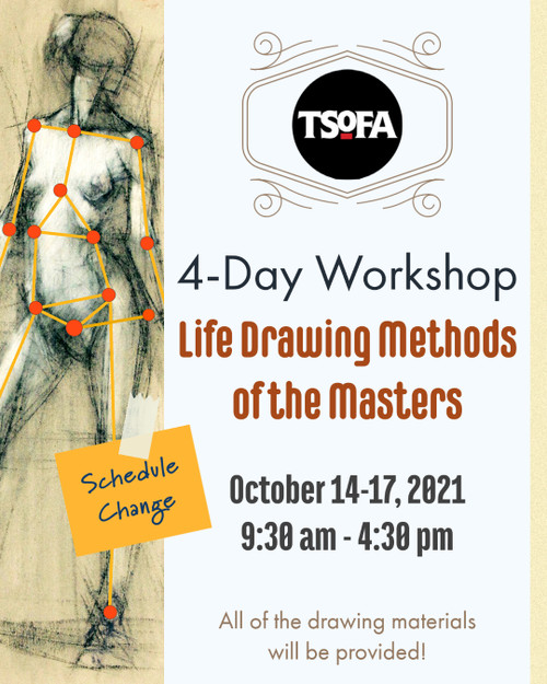 4-Day Workshop - Life Drawing Methods of the Masters by Michael Mentler, October 14-17, 2021