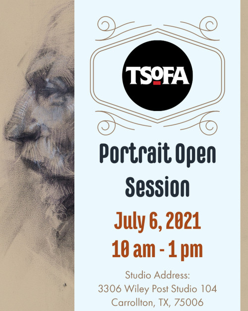 Pass to a single portrait drawing session at TSoFA on July 6, 2021.
