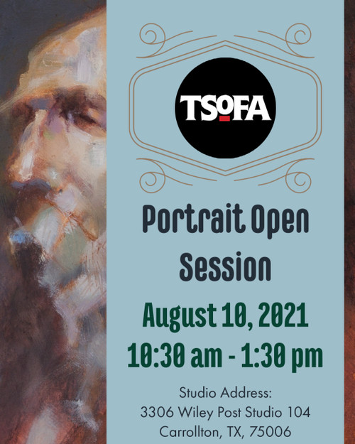 Pass to a single uninstructed portrait drawing session at TSOFA on August 10, 2021.