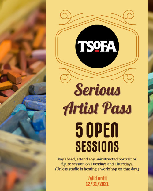 5-day pass to uninstructed open session at TSOFA on Tuesdays and Thursdays. Valid until 12-31-2021.