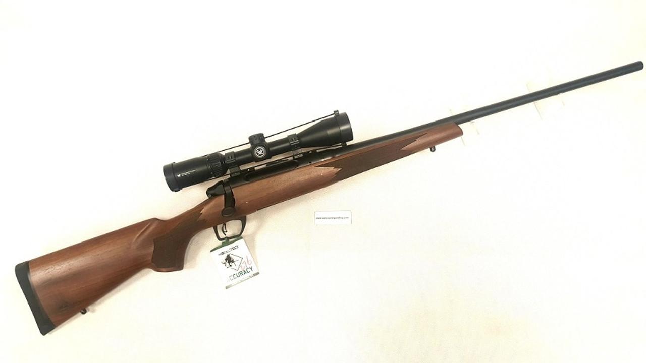 Remington 85894 783 Bolt Rifle 300 Win Walnut with Vortex Crossfire II  3x9,CrossFire Trig, Det  Mag,24 inch BBl