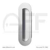 Accurate No. FC7002 Obround Flush Pull, Concealed Screws