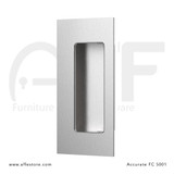 Accurate No. FC5001 Rectangular Flush Pull with  Concealed Screws