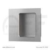 Accurate No. FC2143 Square Flush Pull, Concealed Screws