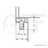 Gasket For Interior & Exterior Door - No. GS7756S Dimensions
