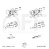 Eclettica K.250.3.4.S - Sliding Door Fitting Set - Components