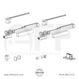 Evolution K.050.2.3.S - Sliding Door Fitting Set - Components