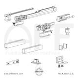 Evolution K.050.1.3.C - Sliding Door Fitting Set - Components