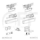 Evolution K.050.3.3.SC - Sliding Door Fitting Set - Components