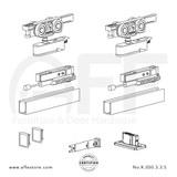 Evolution K.050.3.3.S - Sliding Door Fitting Set - Components