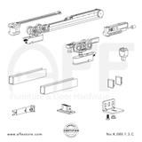 Evolution K.080.1.3.C - Sliding Door Fitting Set - Components