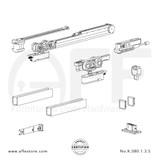 Evolution K.080.1.3.S - Sliding Door Fitting Set - Components
