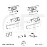 Evolution K.080.3.3.S - Sliding Door Fitting Set - Components