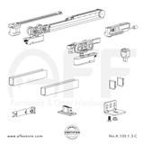 Evolution K.120.1.3.C - Sliding Door Fitting Set - Components