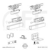 Evolution K.120.3.3.C - Sliding Door Fitting Set - Components
