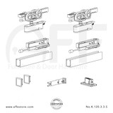 Evolution K.120.3.3.S - Sliding Door Fitting Set - Components