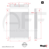 """Magic 2 Max - Concealed sliding system wood door, up to 78-3/4""""- Max 132lbs"""