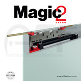 """Magic 2 Vetro 1800 - Sliding system for glass door, up to 71"""" and max 80kg"""