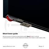 """Magic 2 Bottom Roller , Floor Guide , """"U"""" Shape  Guide"""