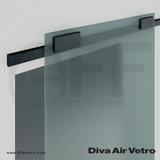 Diva Air Vetro with Black Upper Track & Decorative Covers