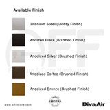 Diva Air Vetro - Available Finishes