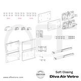 Diva Air Vetro - Soft Closer - Components