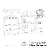 Diva Air Vetro - Standard Stopper - Components
