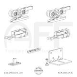 Eclettica K.250.3.4.C - Sliding Door Fitting Set - Components