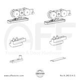 Eclettica K.240.0.4.S - Sliding Door Fitting Set - Components