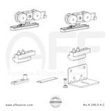 Eclettica K.240.0.4.C - Sliding Door Fitting Set - Components