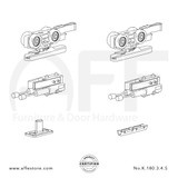 Eclettica K.180.3.4.S - Sliding Door Fitting Set - Components