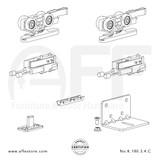 Eclettica K.180.3.4.C - Sliding Door Fitting Set - Components