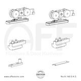 Eclettica K.160.0.4.S - Sliding Door Fitting Set - Components