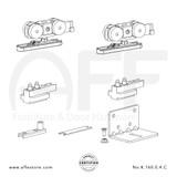 Eclettica K.160.0.4.C - Sliding Door Fitting Set - Components