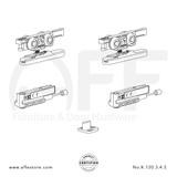 Eclettica K.120.3.4.S - Sliding Door Fitting Set - Components